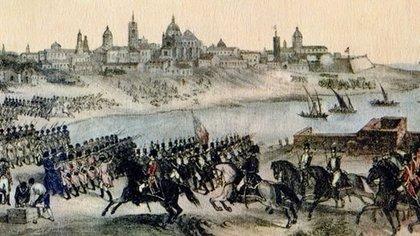 En la segunda invasión inglesa, hubo un despliegue militar que, si bien fue muy importante, fue rechazado por las defensas criollas.