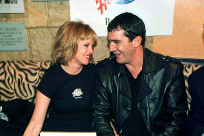 Melanie Griffith y Antonio Banderas se casaron en 1996 (Shutterstock)