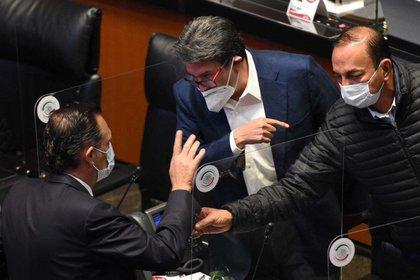 Ricardo Monreal durante una sesión ordinaria en el Senado (Foto: Cuartoscuro)