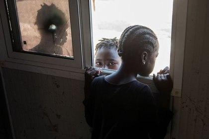 Niños en un campamento de la ONU en Puerto Príncipe. Haití. REUTERS/Valerie Baeriswyl