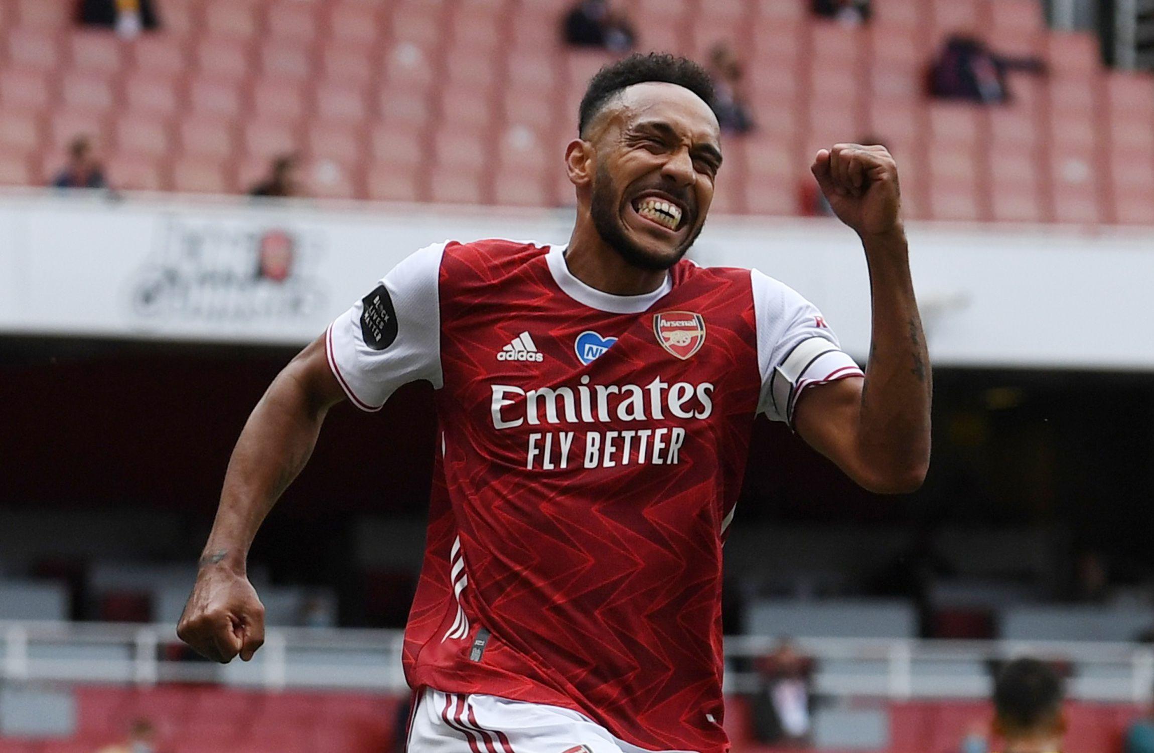 Pierre-Emerick Aubameyang, el hombre gol del Arsenal (REUTERS)