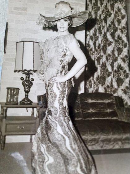 Zulma Faiad de joven en México