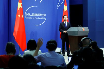 Conferencia de prensa de la Cancillería china en Beijing (Reuters)