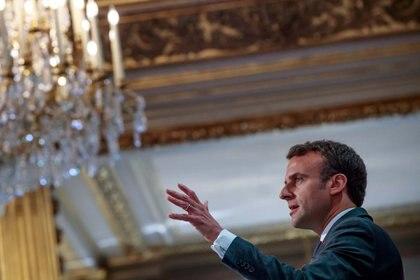 Emmanuel Macron dijo que la catedral será reconstruida en 5 años (Christophe Petit Tesson/Pool via REUTERS