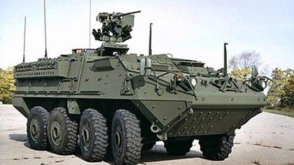 """EL """"Stryker"""" constituye el top de gama en materia de blindados. Es de fabricación canadiense"""
