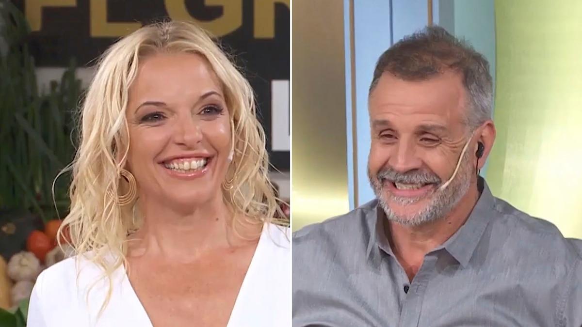 """El """"romántico"""" ida y vuelta entre Carina Zampini y Christian Petersen en """"El gran premio de la cocina"""": """"Tenemos un poliamor"""" - Infobae"""