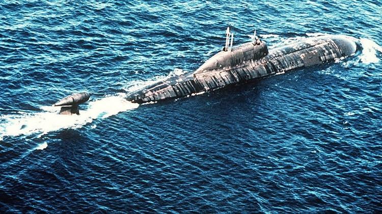 Um submarino russo da classe Akula