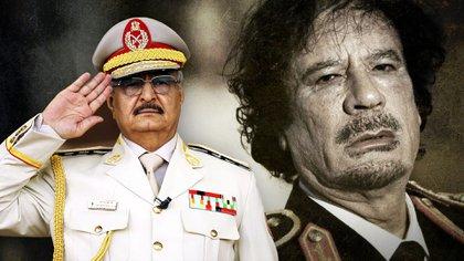 Jalifa Haftar, el general que fue hombre de confianza de Muammar Gaddafi, luego quiso derrocarlo y ahora sueña con ocupar su lugar en Libia