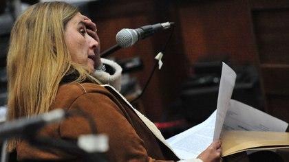 La psicóloga Alicia Paday al dar su informe ante el tribunal