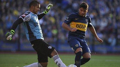 Con la camiseta de Quilmes, club que lo vio nacer (FotoBaires)