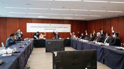 Las comisiones se podrán reunir a distancia y votar en favor o en contra de los dictámenes presentados (Foto: Twitter @senadomexicano)