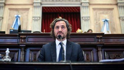 Sergio Massa negó que le hayan ofrecido ser jefe de Gabinete y destacó el rol de Santiago Cafiero en ese cargo (Foto: Charly Diaz Azcue / Comunicación Senado)