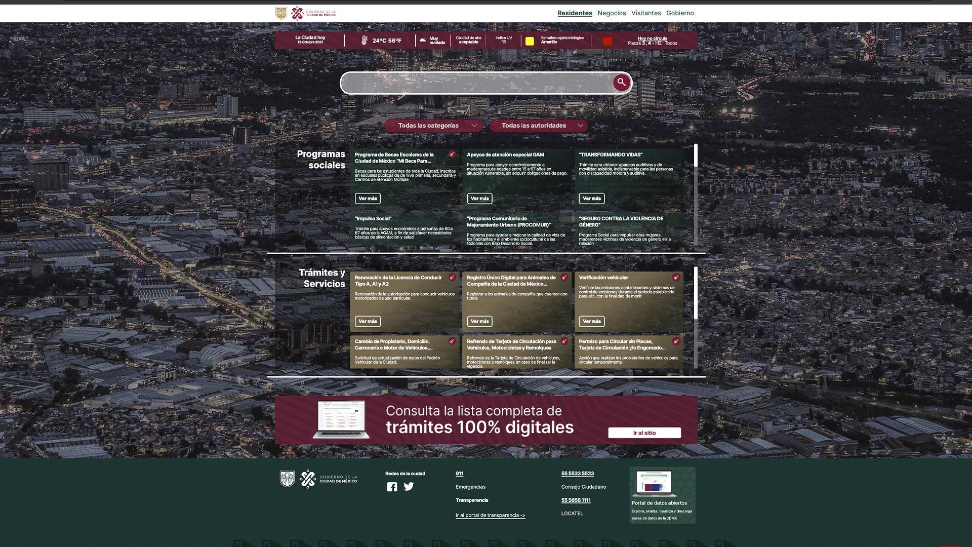 Trámites digitales CDMX (Foto: https://www.cdmx.gob.mx/)