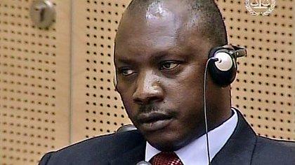 Thomas Lubanga Dyilo fue el primer condenado por la Corte Penal Internacional por crímenes de guerra y reclutamiento de niños, en enero de 2012 (Captura de televisión)