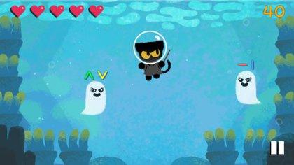 El juego está protagonizado por un gato negro que es asediado por fantasmas