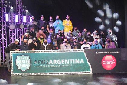 La Jornada 1 de FMS Argentina 2020, la liga profesional de freestyle, se realizó sin público presente.