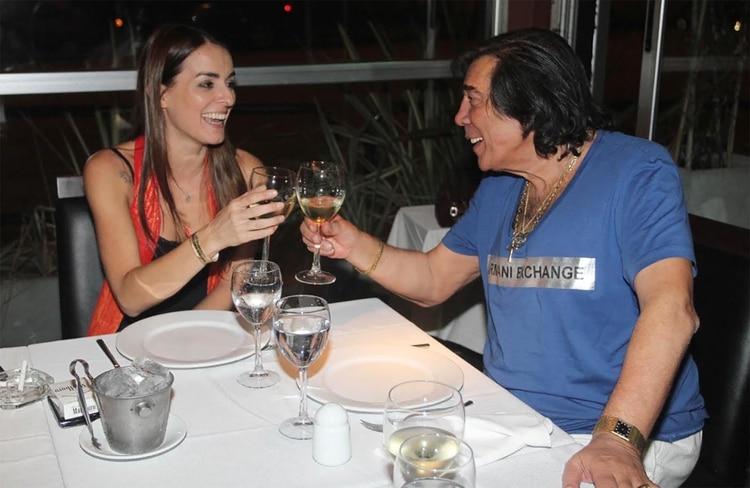 Con Andrea Sblano, después de un show en 2012 (Foto: Verónica Guerman / Teleshow)