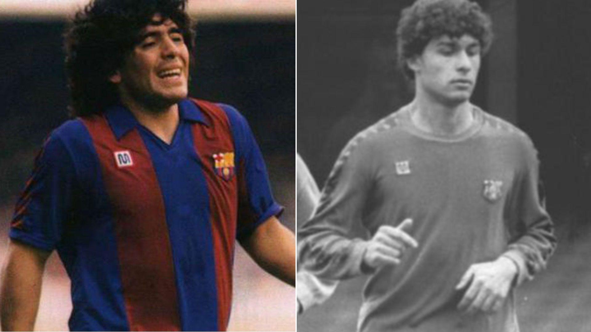 Diego Maradona y Jorge Gabrich