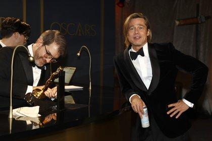 """Brad Pitt, de 56 años, se ganó un premio Oscar como mejor actor de reparto por su trabajo en """"Once Upon A Time In Hollywood"""" REUTERS/Eric Gaillard"""