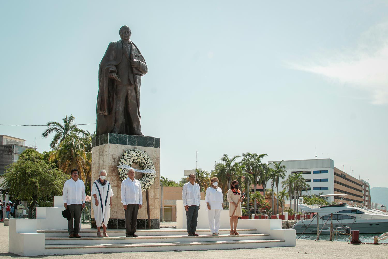 El presidente López Obrador encabezó un evento para conmemorar el 149 Aniversario Luctuoso de Benito Juárez García (Foto: Presidencia de México)