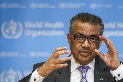 El director general de la Organización Mundial de la Salud (OMS), Tedros Adhanom Ghebreyesus (EFE/ Salvatore Di Nolfi/Archivo)