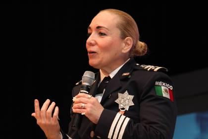 Acusada de irregularidades en la compra de software cuando formaba parte de la Policía Federal, Patricia Rosalinda Trujillo conforme a protocolo, ha solicitado licencia ilimitada sin goce de sueldo (Foto: Twitter/@ANUIES)