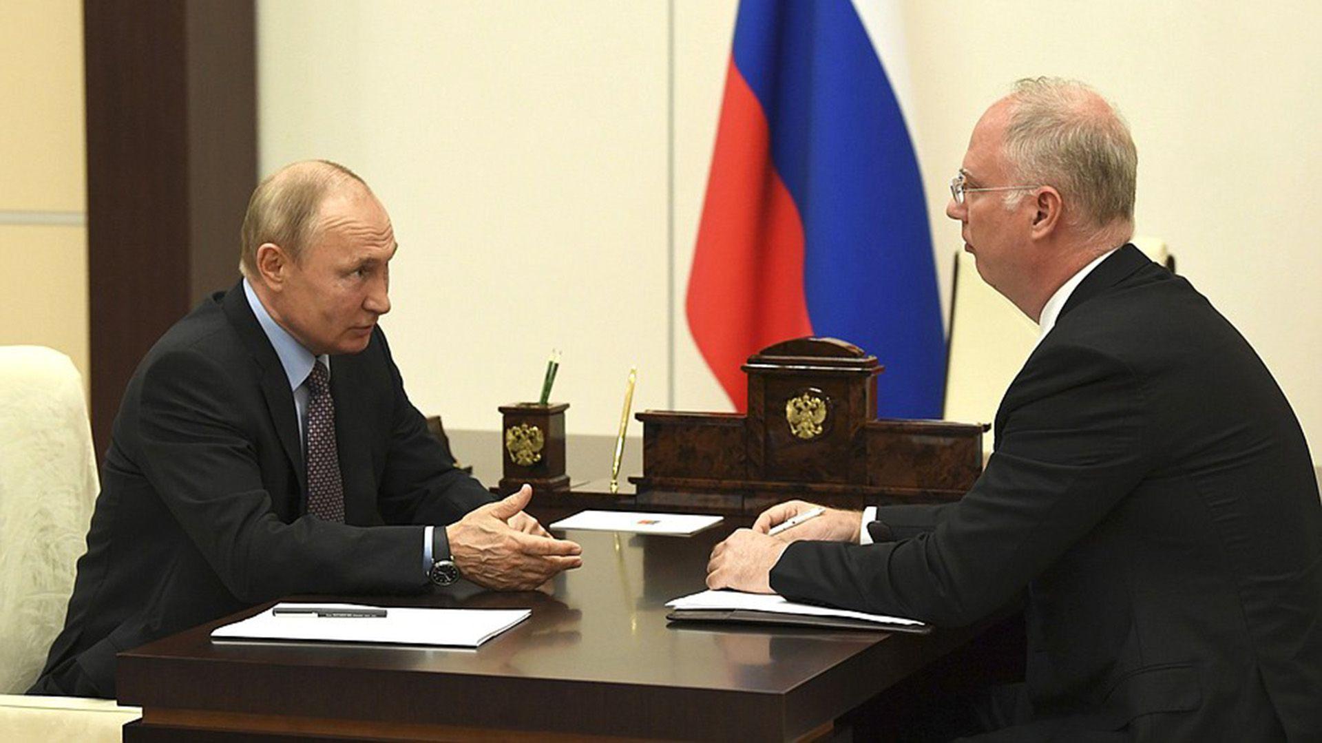 Putin con Kirill Dmitriev, titular del RDIF