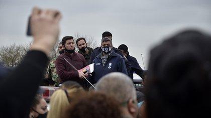 Protesta policía provincia de Buenos Aires en Departamental La Matanza