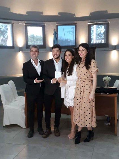 El Chato Prada y Marcia Duhagon, los papás de Florencia viajaron hasta Córdoba, la tierra donde nació Gustavo (Teleshow)