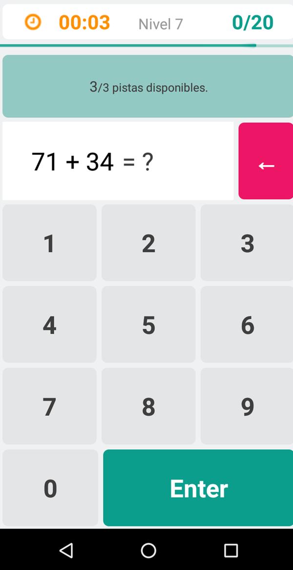 Moravec cuenta con diferentes niveles donde el usuario tiene que responder diferentes cálculos matemáticos como sumas, multiplicaciones y potencias
