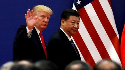 Donald Trump, presidente de Estados Unidos, y Xi Jinping, presidente de la República Popular China