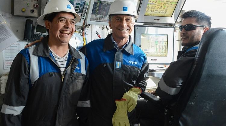Mauricio Macri en Vaca Muerta
