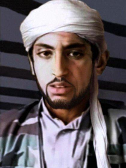 Así podría ser hoy Hamza Bin Laden, según una elaboración de CBS (CBS)