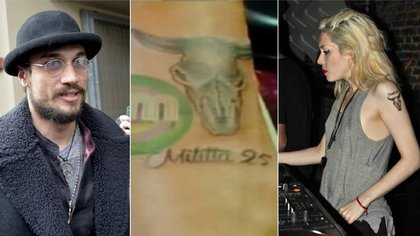 "Daniel Osvaldo y Militta Bora se tatuaron sus nombres (Foto: captura de TV, ""AM"", Telefe)"