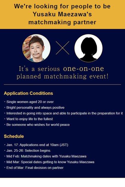 Yusaku Maezawa publicó una solicitud online para conocer una pareja que quiera acompañarlo a la Luna.