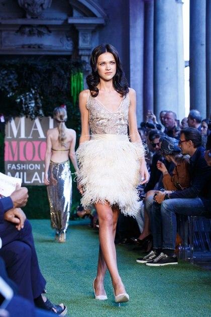 Llevó algunos de sus diseños para que sean conocidos en la cuna de la moda italiana