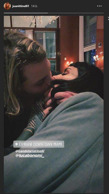 Juanita Tinelli compartió una romántica foto de su hermana y su cuñado (Instagram)