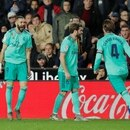 Soccer Football - La Liga Santander - Valencia v Real Madrid - Mestalla, Valencia, Spain - December 15, 2019 Real Madrid's Karim Benzema celebrates scoring their first goal with teammates REUTERS/Susana Vera
