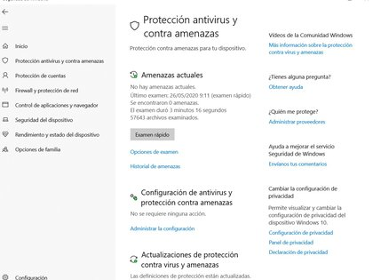 Windows Defender hace un escaneo automatizado del sistema pero también puede elegir el usuario cuándo hacer estas evaluaciones.