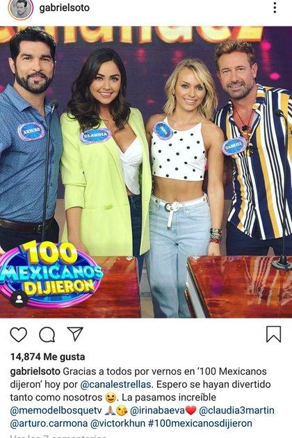 Poco después de que se desatara el escándalo, Soto compartió en Instagram una imagen junto a Irina Baeva, su actual pareja
