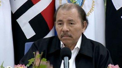 El presidente de Nicaragua Daniel Ortega duranteel anuncio de la cancelación de la reforma de la seguridad social