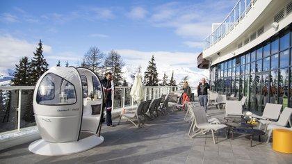 Las vistas desde el hotel en los Alpes. (Lihue Althabe)