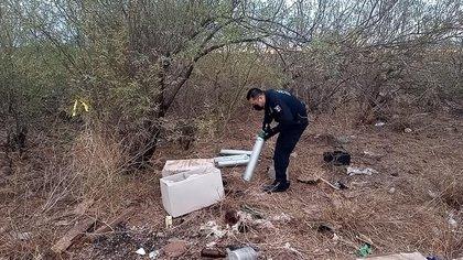 Policía Estatal de Sonora encontró siete tanques de oxígeno robados en el IMSS de Navojoa (Foto: Fb/PESP Sonora)