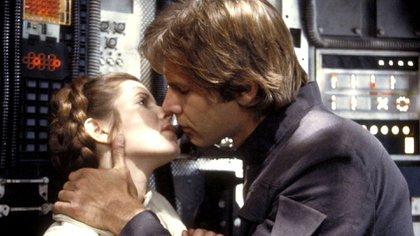 Carrie Fisher y Harrison Ford en Guerra de las galaxias