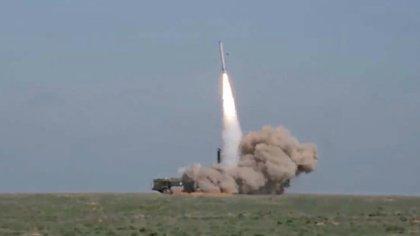 Una reciente prueba de misiles en Rusia