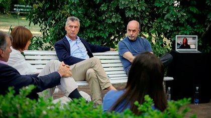 Macri y Rodríguez Larreta, en la reunión del PRO en Vicente López