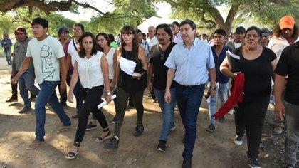 El ministro de Desarrollo Social, Daniel Arroyo, y el gobernador de Salta, Gustavo Sáenz