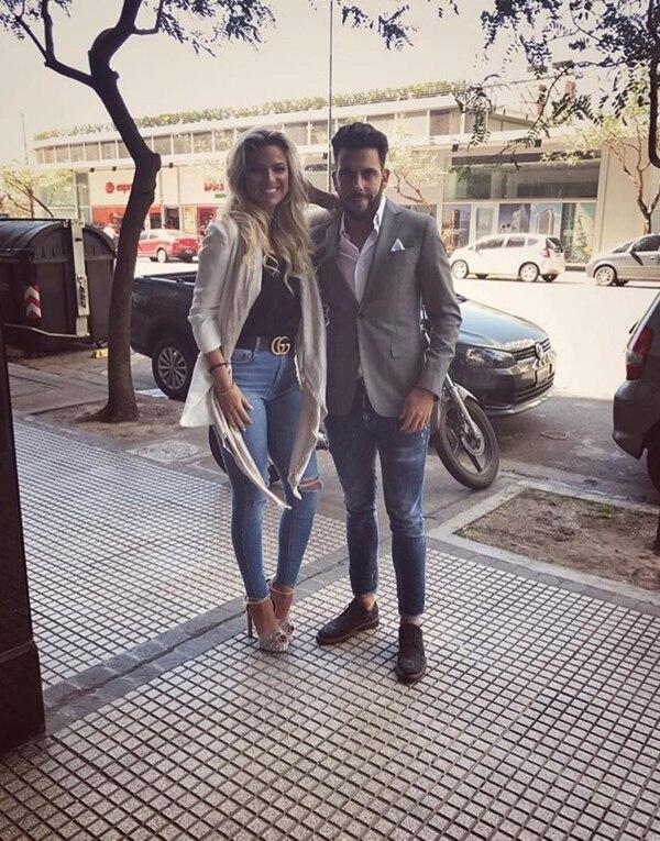 Junto a Agustín Jiménez, su pareja desde hace 11 meses: quieren ser padres