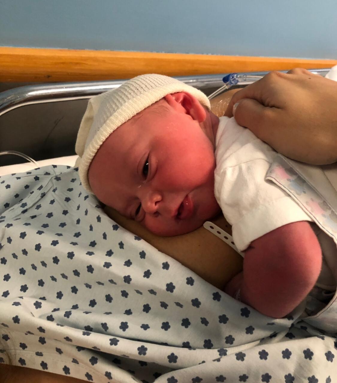 La beba nació por cesárea en la Clínica y Maternidad Suizo Argentina