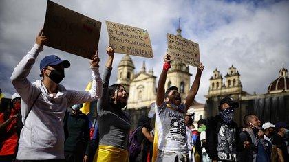 Bogotá. 12 de Mayo de 2021. Paro Nacional. Foto: Colprensa-Sergio Acero.